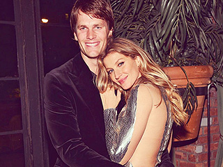 Gisele Bündchen Snuggles Up to Tom Brady In Sultry, Sequined Dress