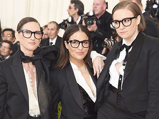 Lena Dunham, Jenni Konner and Jenna Lyons Are J. Crew Tuxedo Triplets at the Met Gala