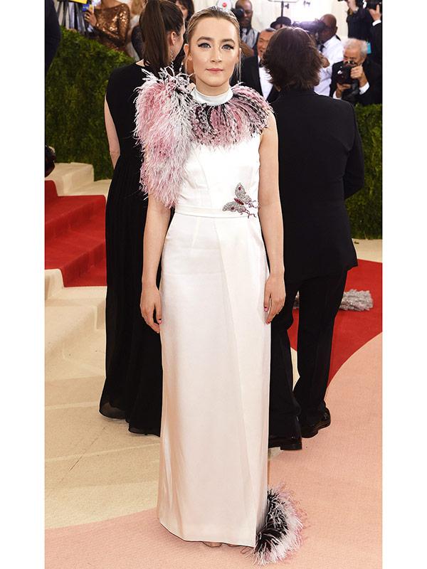 Saoirse Ronan at the met costume gala 2016