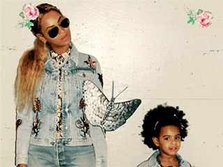 Beyoncé and Blue Ivy Have a Mommy-and-Me Matching Moment in Custom Gucci Denim Jackets
