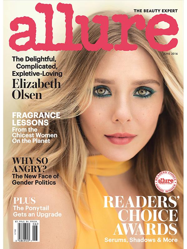 Elizabeth Olsen Allure June cover