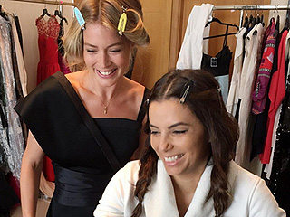 Eva Longoria and Doutzen Kroes Give a BTS Look at Their Cannes Glam Process: See Their Red Carpet Transformations!