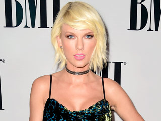 Taylor Swift 2.0 Keeps It '90s In a Choker and Velvet Dress at the BMI Pop Awards