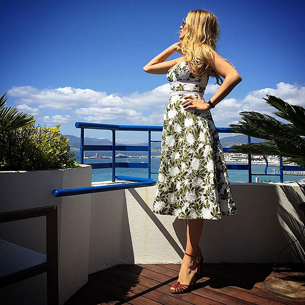 Blake lively wears cynthia rowley tea length dress at cannes style news s - Instagram blake lively ...
