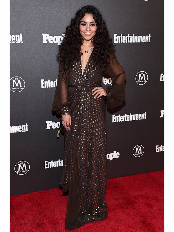Vanessa Hudgens Brings Boho Chic Glamour To People Ew Upfronts Party American Superstar Magazine
