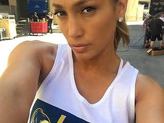Jennifer Lopez Designs 'Lucky to Have These Curves' Tee, Urges Fans to Buy One