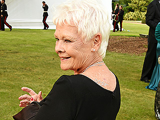 Judi Dench, 81, Wears Crystal '007' Body Art (for the Third Time!) to Royal James Bond Theme Gala