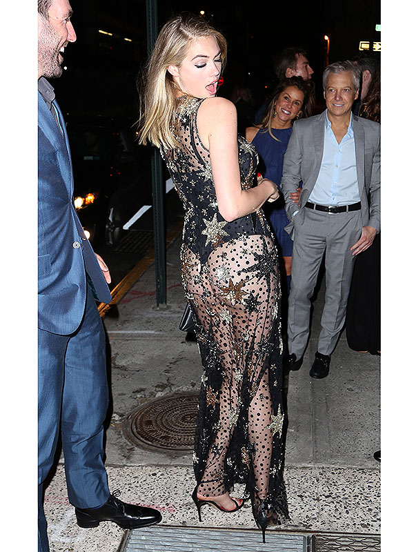 Kate upton wears her butt to her birthday party insert birthday suit