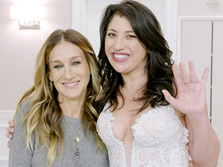Watch Sarah Jessica Parker Surprise Brides-to-Be with Shoes During Their Dress Fittings!