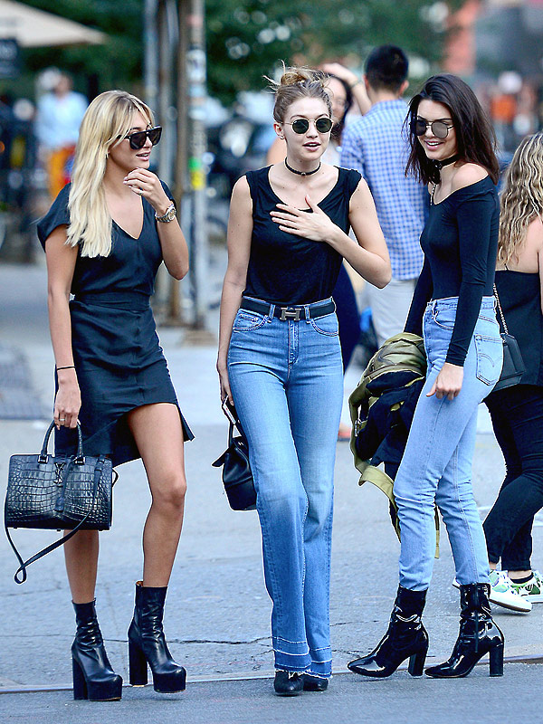 Hadid Jenner Baldwin out NYC