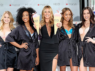 Heidi Klum Proves She's a Lingerie Evangelist By Handing Out Underwear-Filled Ice Cream Cones on N.Y.C. Street
