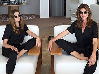 Cindy Crawford and Kaia Gerber Are Identical Twins (36 Years Apart) in Matching Jumpsuits