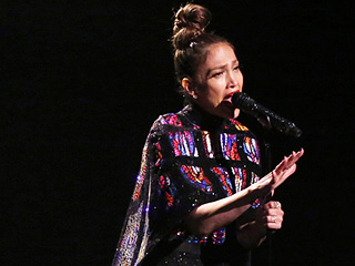 Jennifer Lopez Performs 'Love Make the World Go Round' Wearing a 20-Foot Cape, Proves Our Theory She's a Superhero