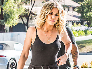 Khloe Kardashian Steps Out amid Lamar Odom Drama to Model Her New Denim Line
