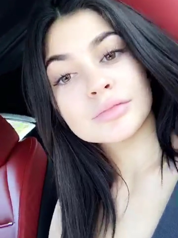 Kylie makeup-free
