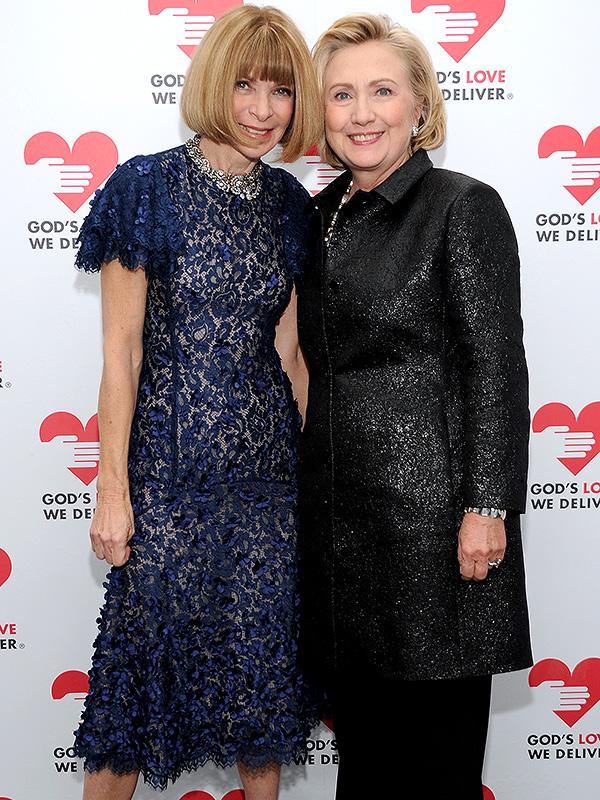 Anna Wintour and Hillary Rodham Clinton