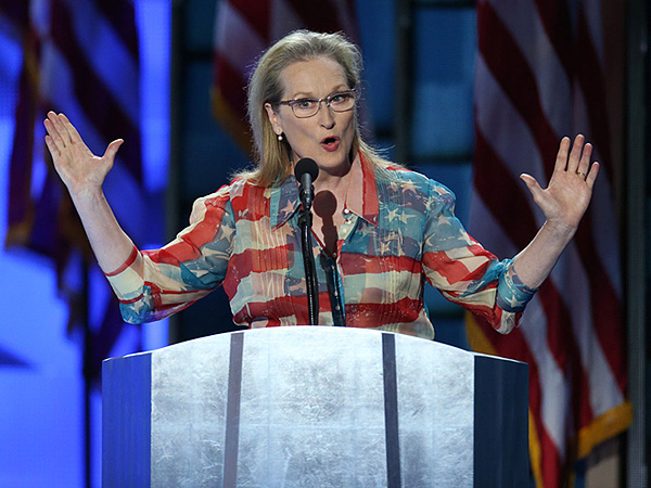 Meryl Streep Catherine Malandrino Flag Dress DNC 2016