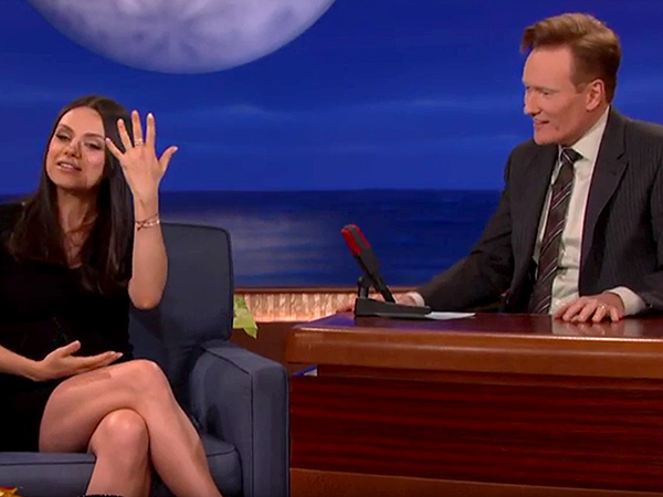 Mila Kunis and Conan O'Brien