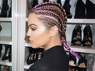 Khloé Kardashian and Sofia Richie are Making a Case for Multi-Colored Braids