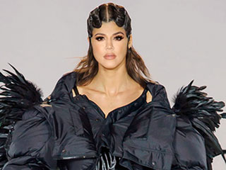 Khloé Kardashian Follows in Kendall's Footsteps by 'Modeling' Fall Runway Looks