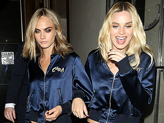 Skwad Style! Cara Delevingne and Margot Robbie Hit the Street in Matching Custom Tracksuits