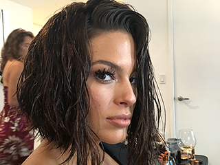 Exclusive Scoop on Ashley Graham's Faux VMAs Bob and Super-Glowy Makeup!