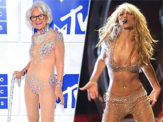 Instagram Star Baddie Winkle, 88, Channels Britney Spears in a Nude Jeweled Bodysuit at the VMAs