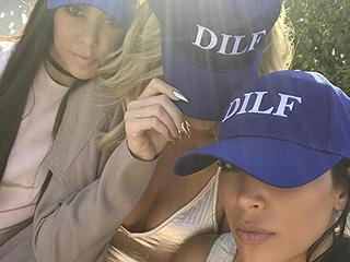 Kim, Khloé and Kourtney Kardashian Celebrate Thursday in Matching 'DILF' Hats
