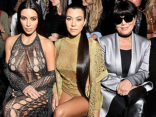 Kim and Kourtney Kardashian Wear Next to Nothing in the Front Row at Balmain
