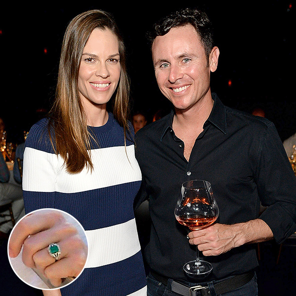 Hilary Swank engagement ring
