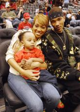Singer Monica And Her Lil Rock Catch A Home Game Moms