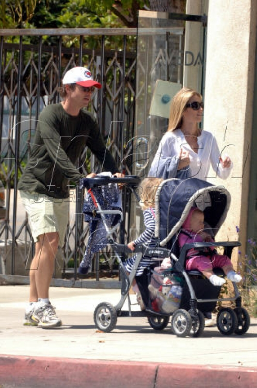 Kinnear Family Out For A Walk Moms Amp Babies Celebrity