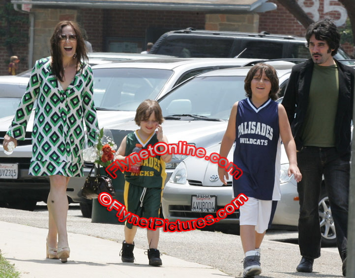 Ricki Lake and sons