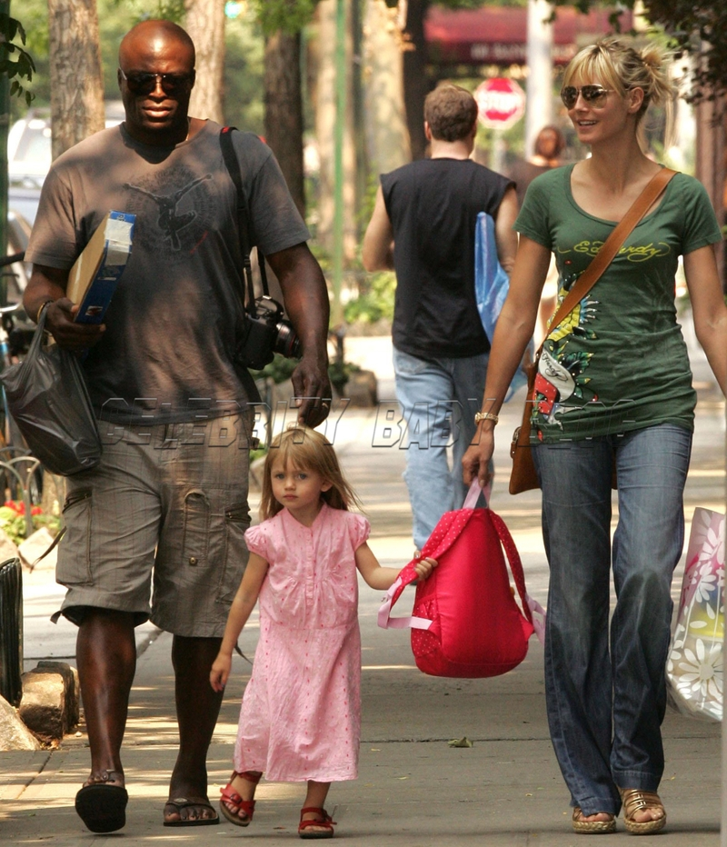 heidi klum and seal family. Seal, Heidi Klum and Leni