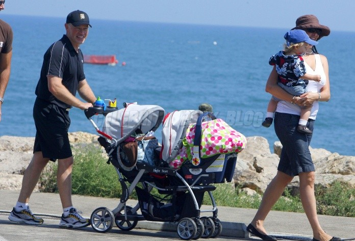 Neal Mcdonough And Family Out For Walk On Sunday In Malibu