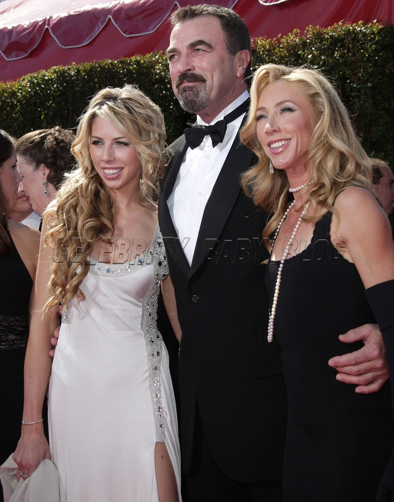 Actor Tom Selleck , 62, his wif...