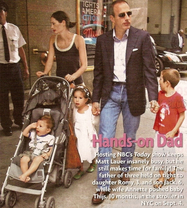 <b>Matt</b> <b>Lauer</b> – Moms & Babies – Celebrity Babies and Kids ...