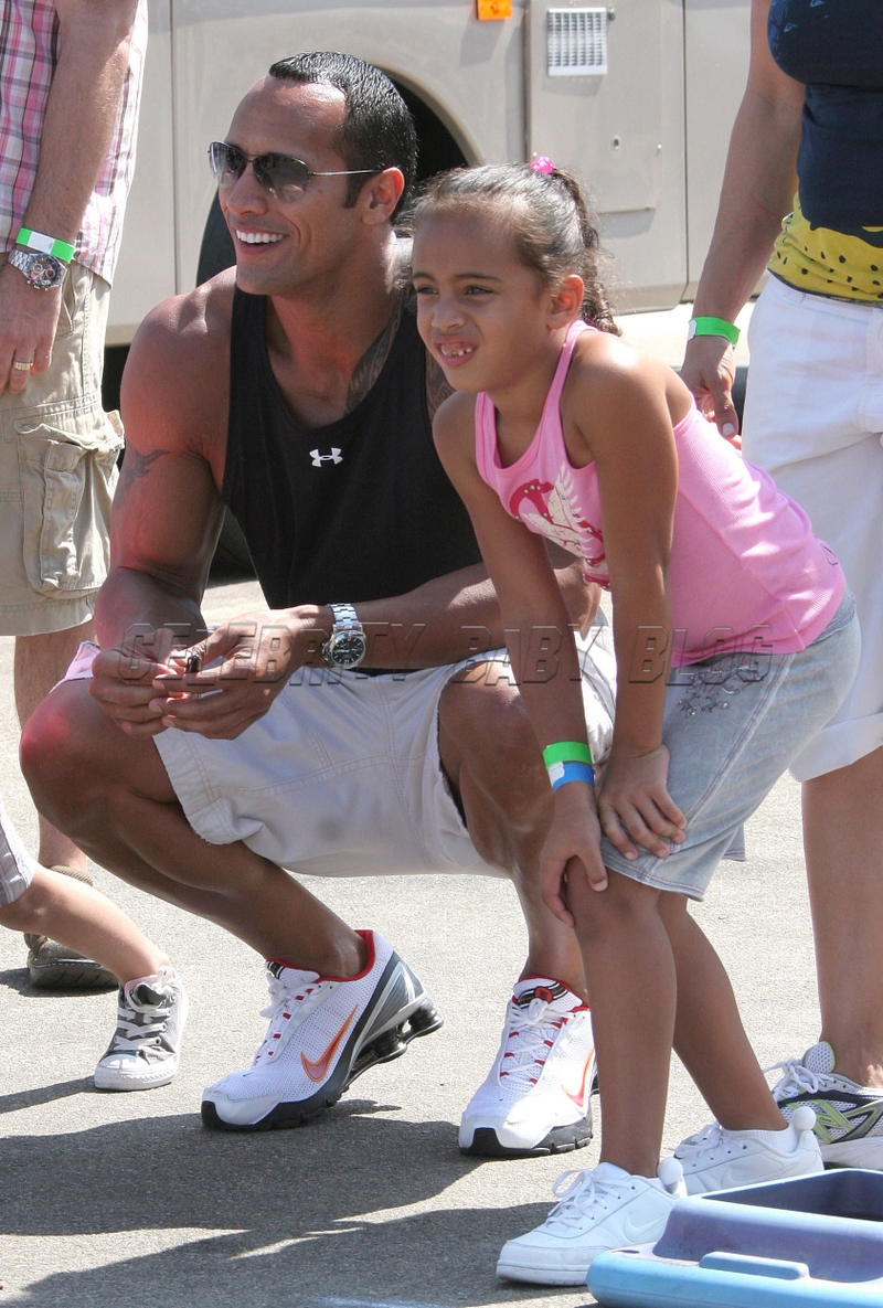 Dwayne Johnson is whipped by his daughter
