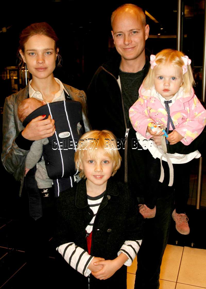 Natalia Vodianova And Family Attend The Mont Blanc Tea