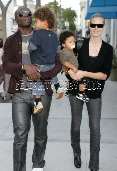 heidi klum and seal kids. Heidi Klum, Seal and kids out