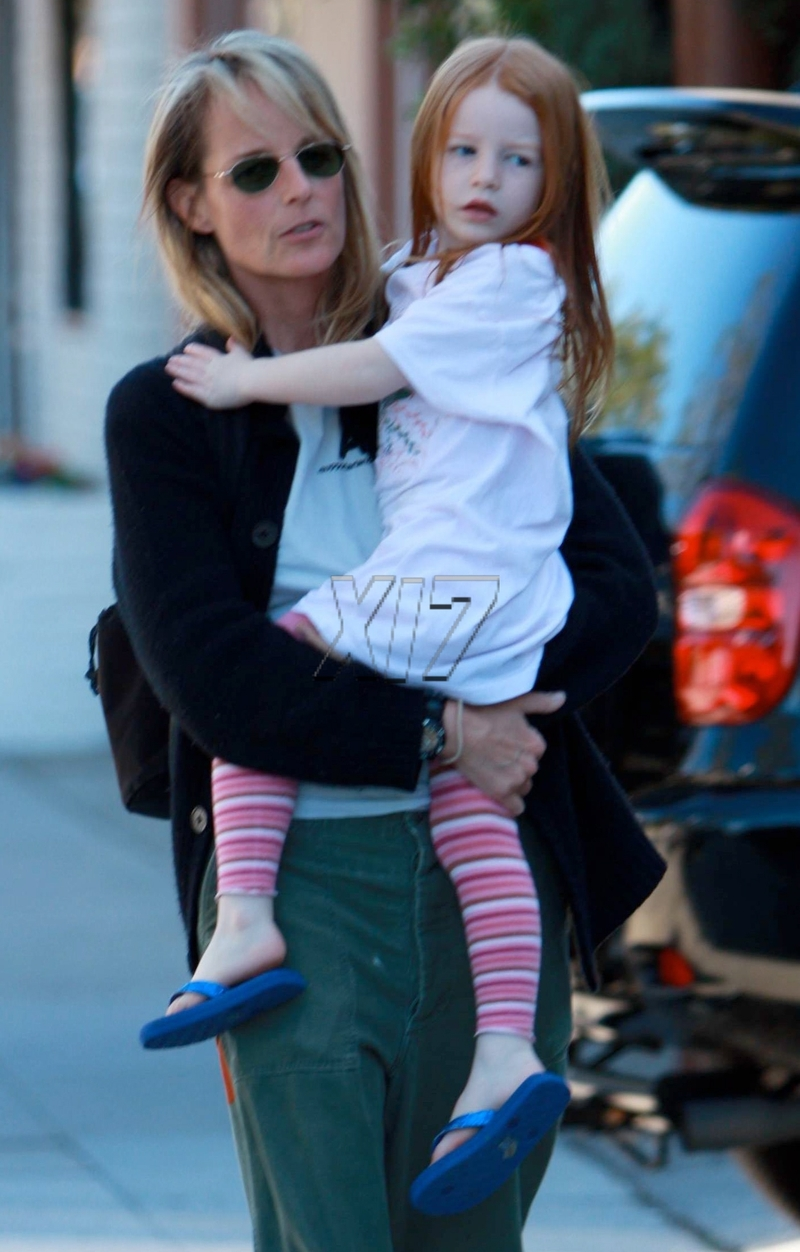 helen hunt and makena lei out in brentwood moms amp babies