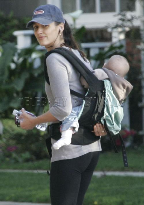 Bridget Moynahan Goes For A Walk With Son John Moms