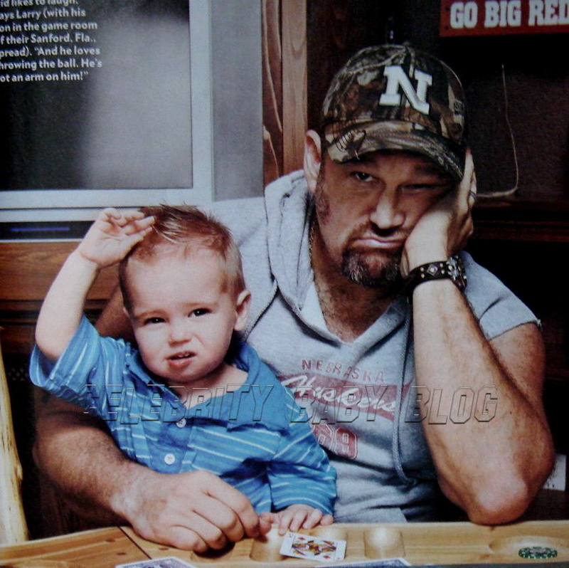 Larry with his son, Wyatt