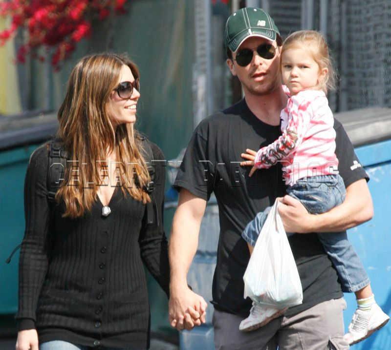 Christian Bale and family visit a local Farmer's Market