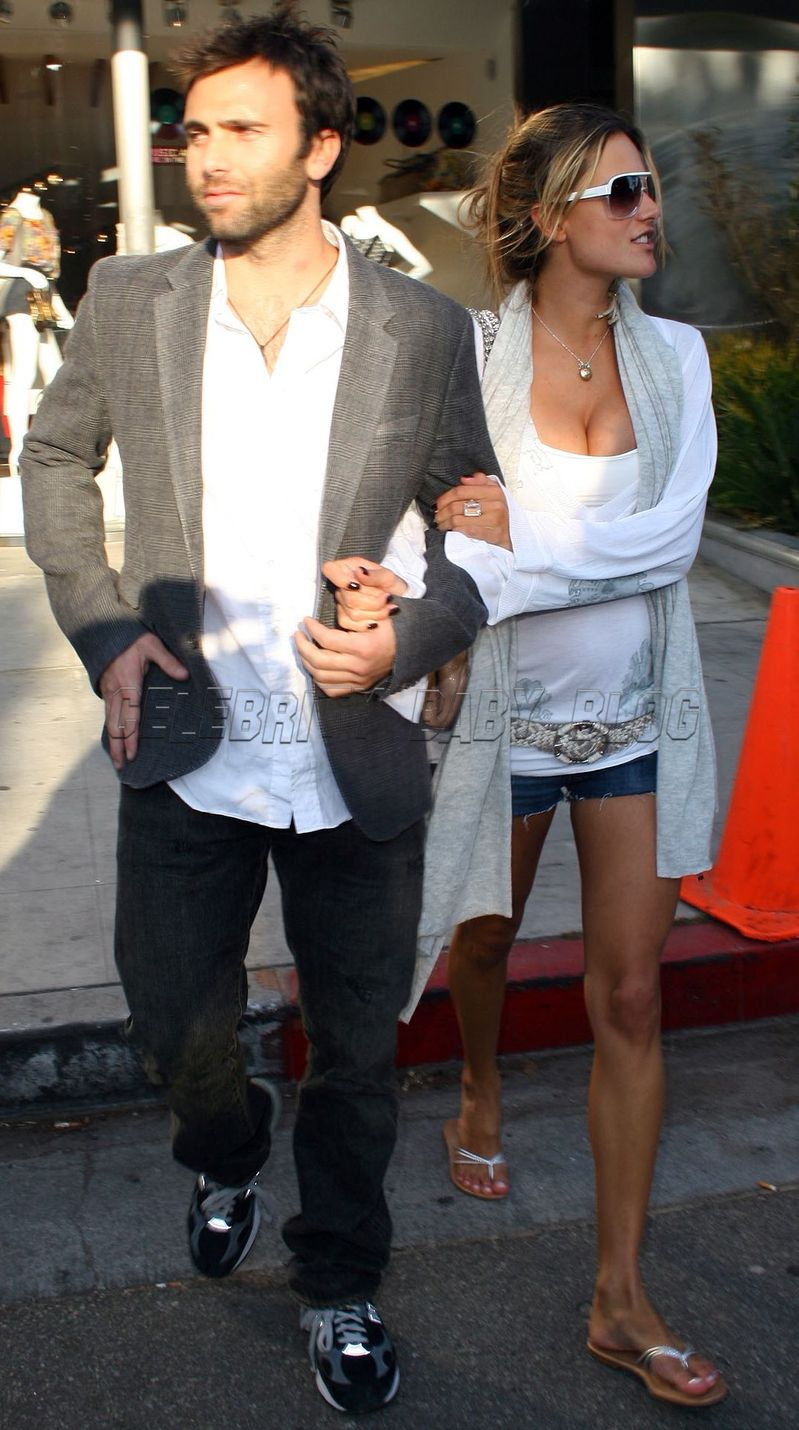 Alessandra Ambrosio with her long-time partner Jamie Mazur