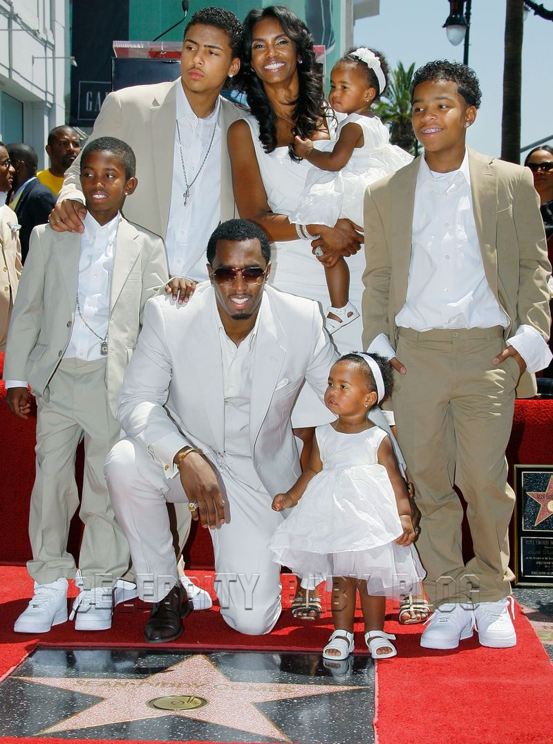 Image result for Kim and p diddy with children