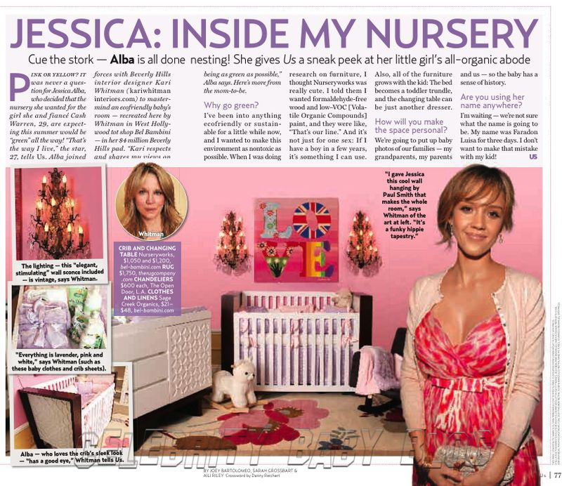 Celebrity Nursery Design Reveal Mel B: Jessica Alba Confirms That She's Having A Girl, Gives