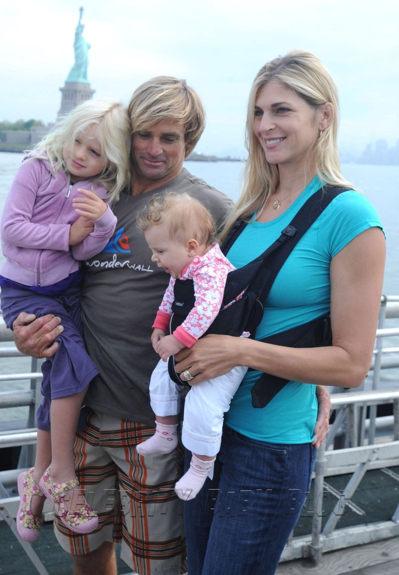Surfer Laird Hamilton, 44, wife Gabrielle Reece, 38, and daughters Reece ...