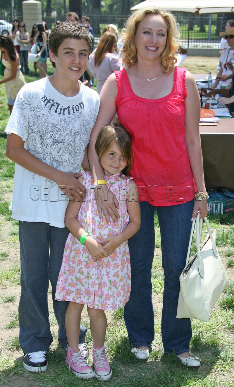 Virginia Madsen  Jack and Mina attend Time for HeroesAntonio Sabato Jr Kids