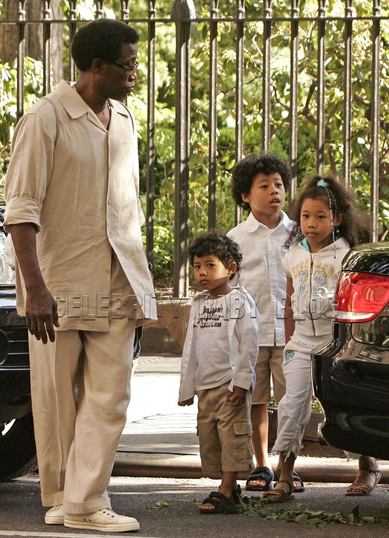 Photo de Wesley Snipes & son  fils  Akhenaten Kihwa-T Snipes